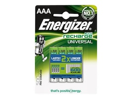 Energizer Universal Rechargeable AAA (4-pack), UNH12BP-4, 14805838, Batteries - Other