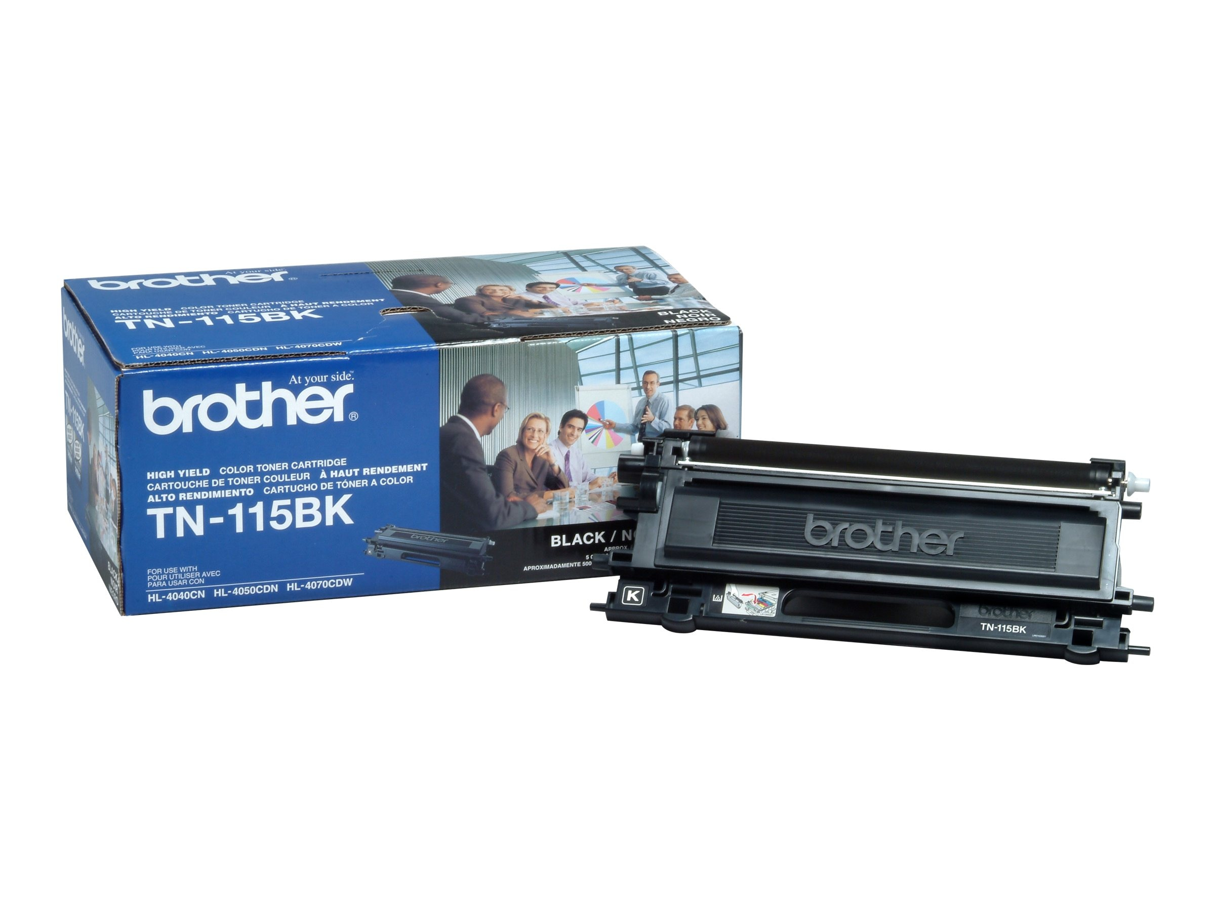 Brother Black High Yield Toner Cartridge for Brother HL-4040CN & MFC-9440CN, TN115BK, 7790439, Toner and Imaging Components