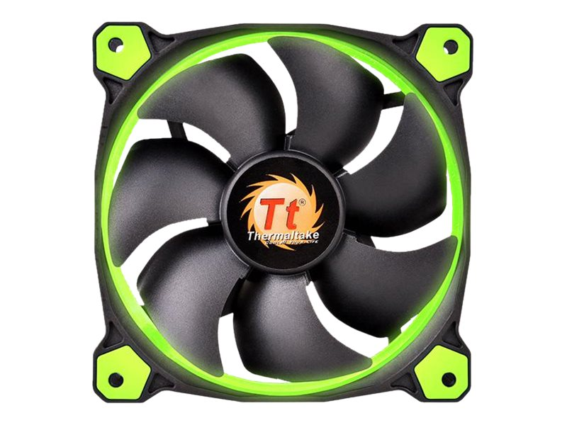 Thermaltake Riing 14 High Static Pressure LED Radiator 140mm Fan 1400 RPM, Green, CL-F039-PL14GR-A