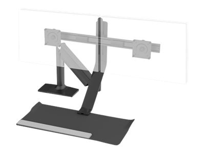 Humanscale Quickstand Lite, 2-Monitor Crossbar, QSLBWG, 31448617, Stands & Mounts - AV