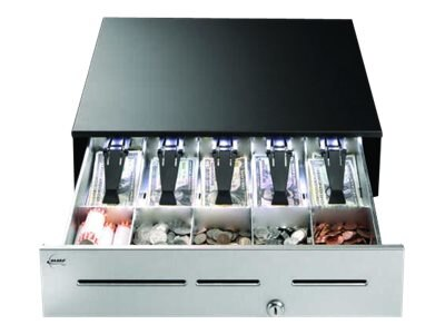 MMF Cash Drawer Cash Drawer, Warm White Light, 4.6h x 18w x 16.7d, 5-Bill 5-Coin, MMFL1817204, 31239532, Cash Drawers
