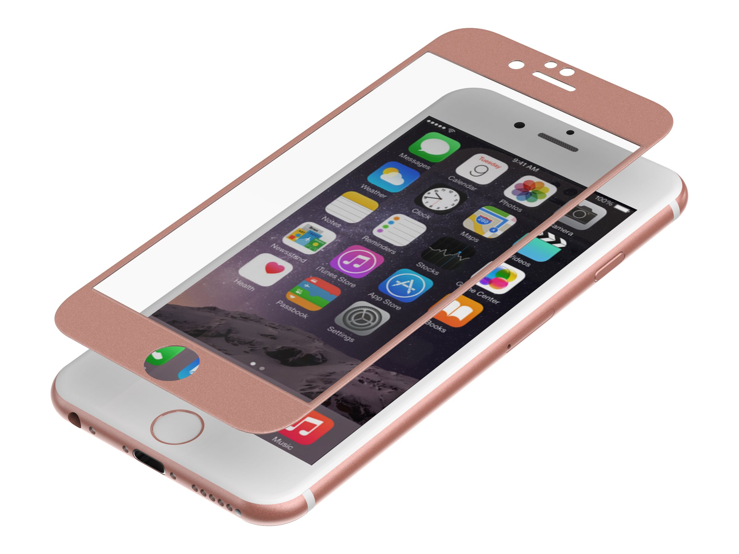 Zagg Invisibleshield Luxe Glass for iPhone 6 6S, Rose Gold, IP6BGS-RG0