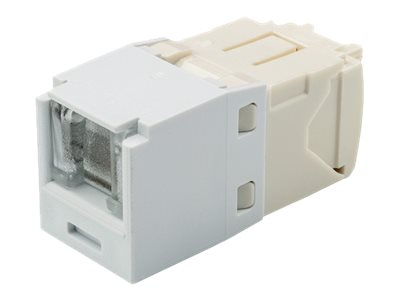 Panduit Cat6 RJ-45 8-position, 8-wire Spring Shuttered Universal Jack Module, Arctic White, CJH688TGAW