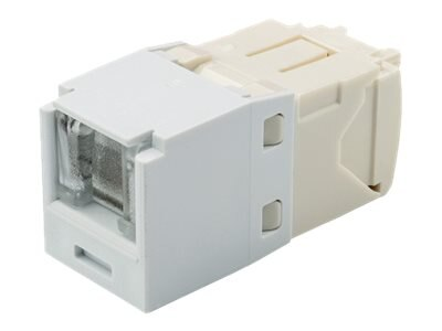 Panduit Cat6 RJ-45 8-position, 8-wire Spring Shuttered Universal Jack Module, Arctic White