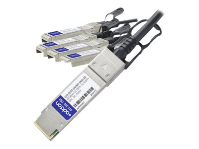 ACP-EP 40GBASE-CU QSFP+ to 4x SFP+ Direct Attach Passive Twinax Cable, 3m
