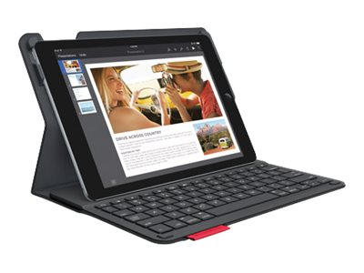 Logitech Type+ Protective Case w  Integrated Keyboard for iPad Air 2, Black, 920-006912