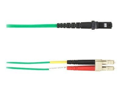 Black Box LC-MTRJ 62.5 125 OM1 Multimode Fiber Optic Cable, Green, 5m, FOCMR62-005M-LCMT-GN