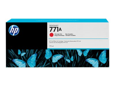 HP 771A 775ml Chromatic Red Designjet Ink Cartridge, B6Y16A
