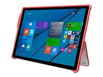 Incipio Feather [Hybrid] Rugged Case w  Shock Absorbing Frame for Microsoft Surface 3, Red