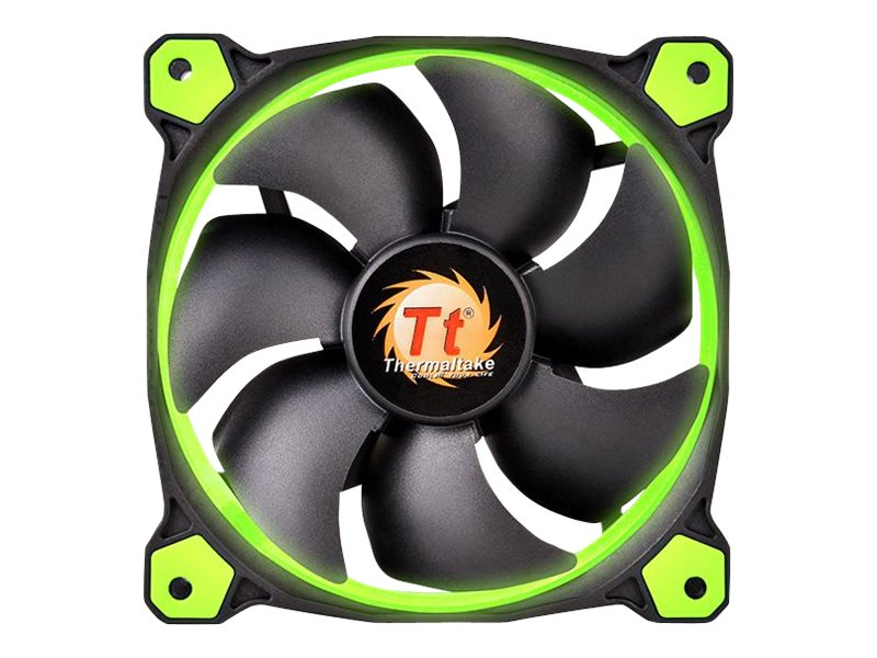 Thermaltake Riing 12 High Static Pressure Radiator Fan 120mm LED 1500 RPM, Green