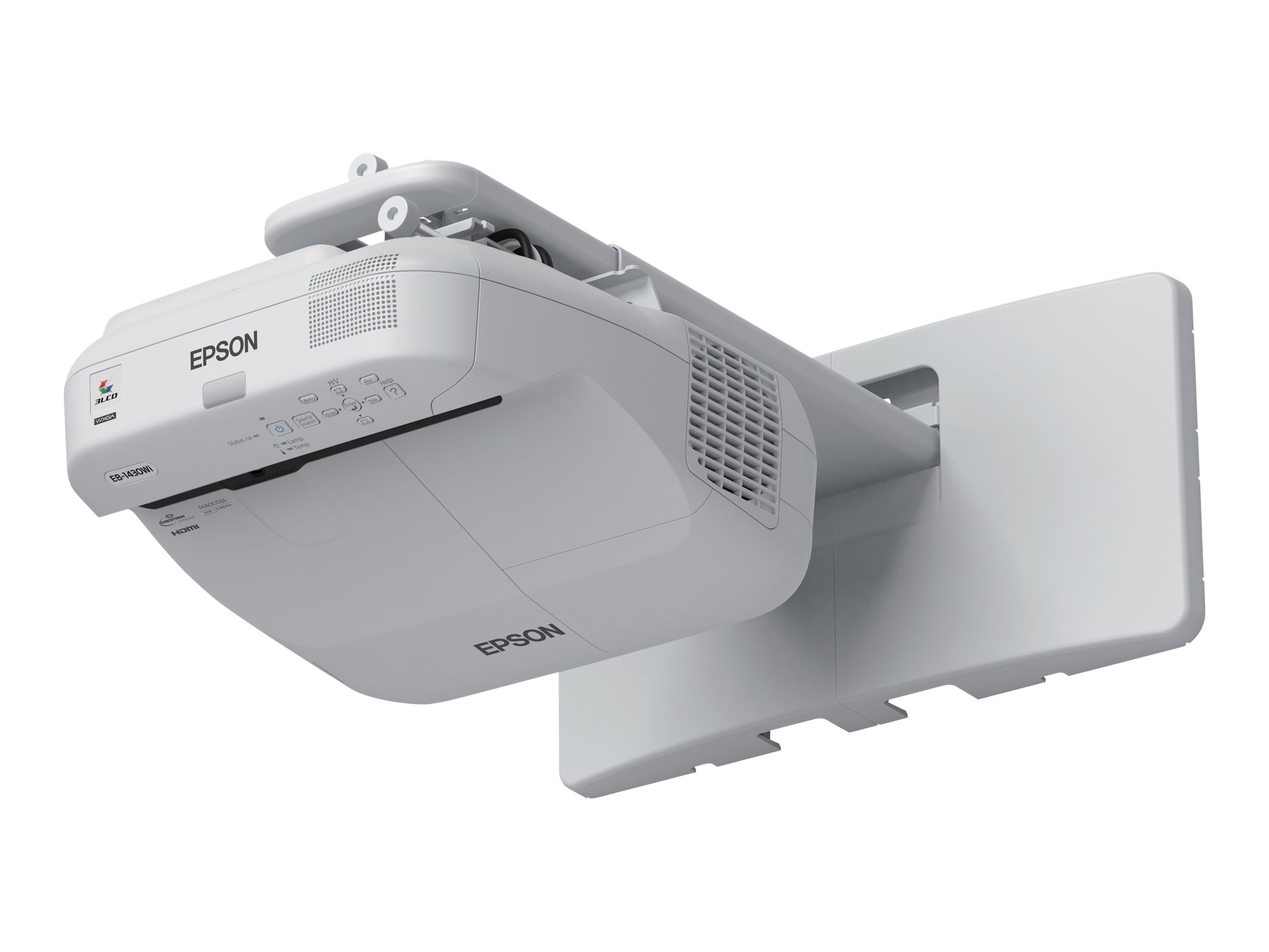 Epson BrightLink Pro 1420Wi WXGA Interactive Projector, 3300 Lumens, White with Wall Mount