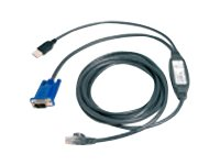 Avocent USB Cat5 Integrated Access Cable for AutoView KVM Switches, 10ft