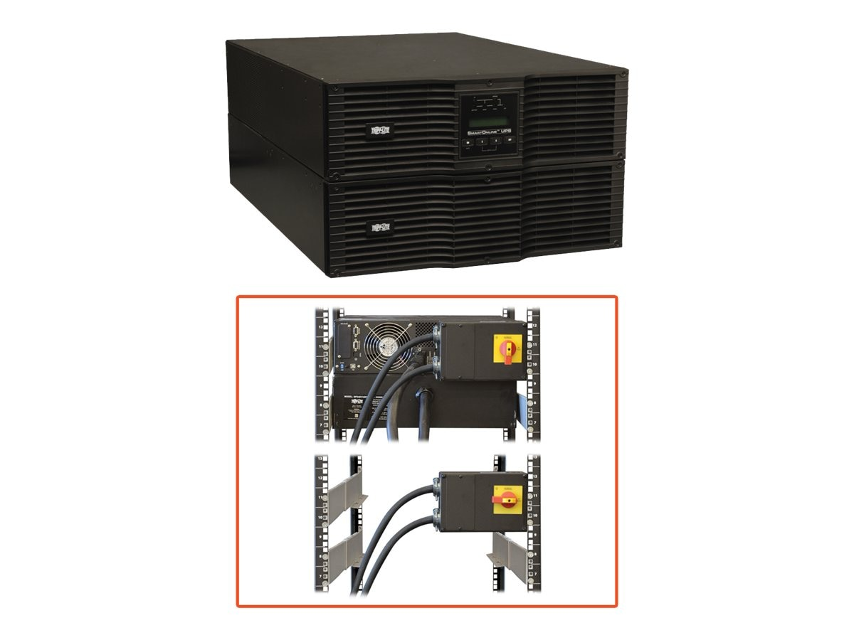 Tripp Lite 8000VA UPS Smart Online Rack Tower PureSine 8kVA 200-240V Hardwire Input Output, SU8000RT3UHW, 7895409, Battery Backup/UPS