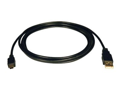 Tripp Lite 3ft. USB A to 5-Pin Mini B M M Digital Device to PC Cable, U030-003, 12434869, Cables