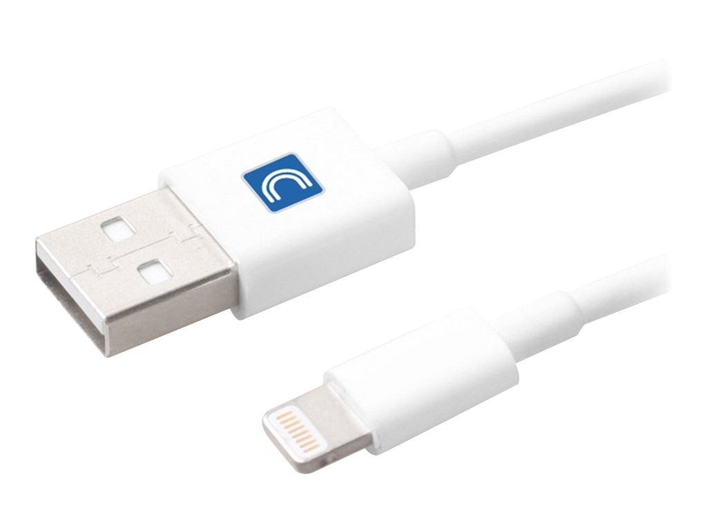 Comprehensive Lightning to USB Type A M M Cable, White, 3ft