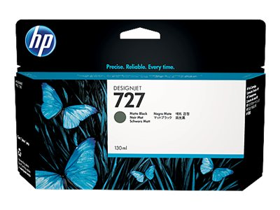HP 727 130-ml Matte Black Designjet Ink Cartridge, B3P22A, 15972380, Ink Cartridges & Ink Refill Kits