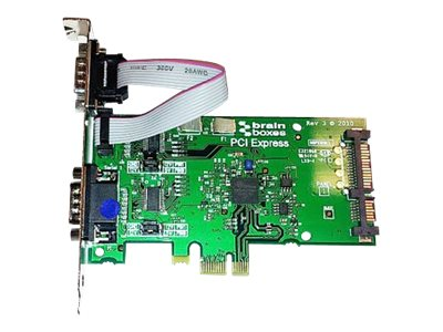 Brainboxes PCI Express 2 Port RS232 Powered 1 Amp POS Card, PX-805, 17631001, Controller Cards & I/O Boards