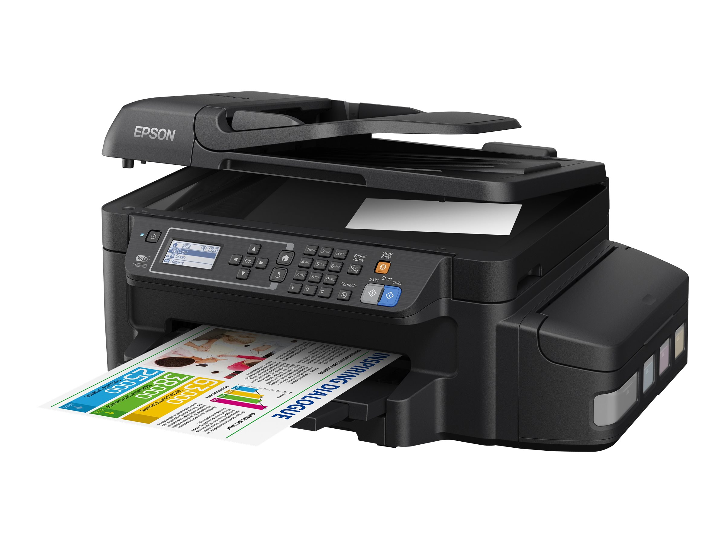 Epson WorkForce ET-4550 EcoTank All-in-One Printer, C11CE71201, 30180954, MultiFunction - Ink-Jet