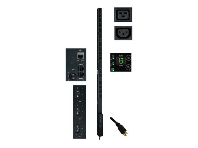 Tripp Lite PDU 3-Phase Switched 208V 8.6kW L15-30P (21) C13 (3) C19 0U RM, PDU3VSR10L1530, 12472304, Power Distribution Units