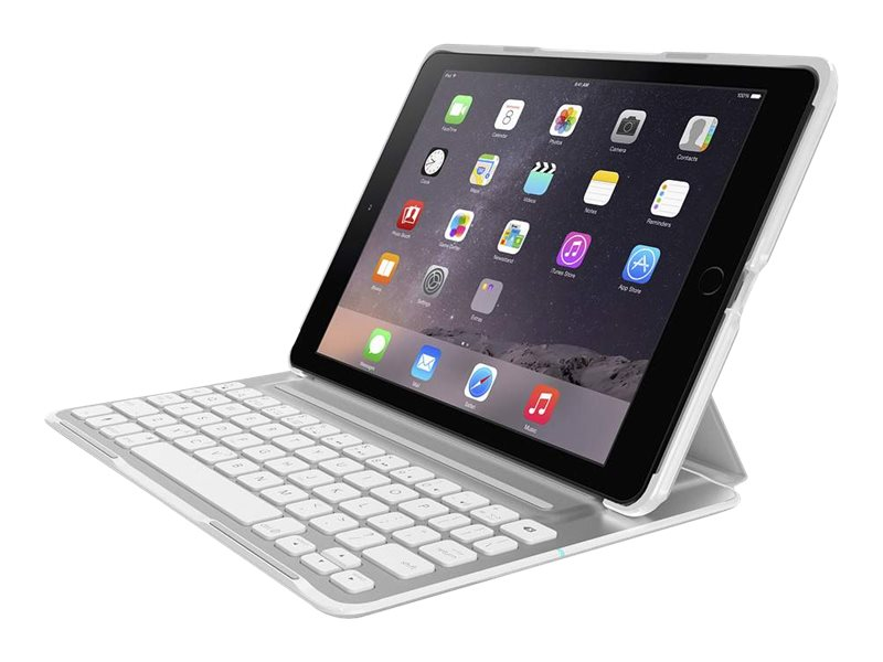 Belkin QODE Ultimate Pro Keyboard Case for iPad Air 2, White, F5L176TTWHT, 18816438, Keyboards & Keypads