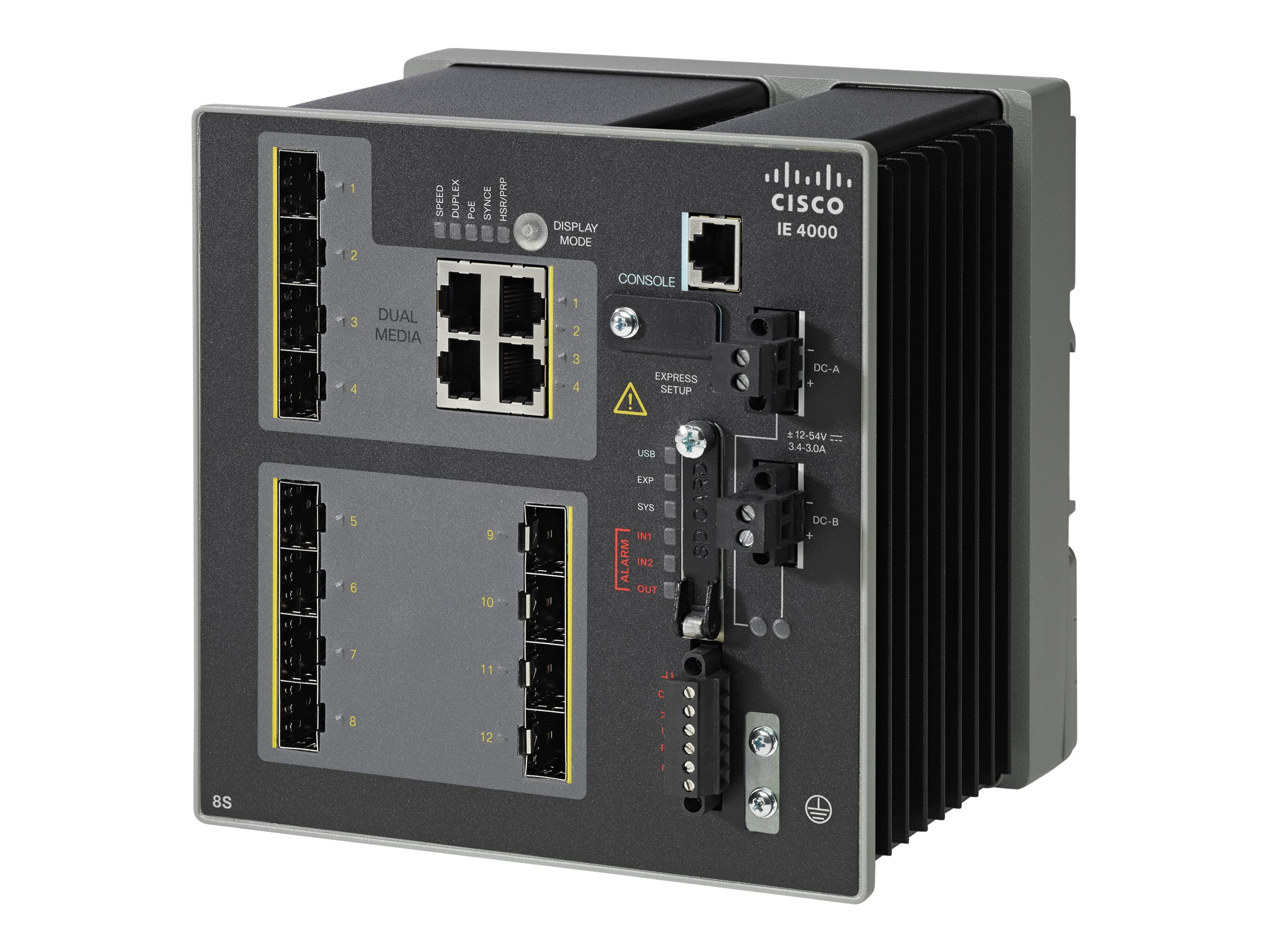 Cisco IE 4000 8X SFP 100M 4X 1G Combo LAN Base Switch, IE-4000-8S4G-E, 23407241, Network Switches