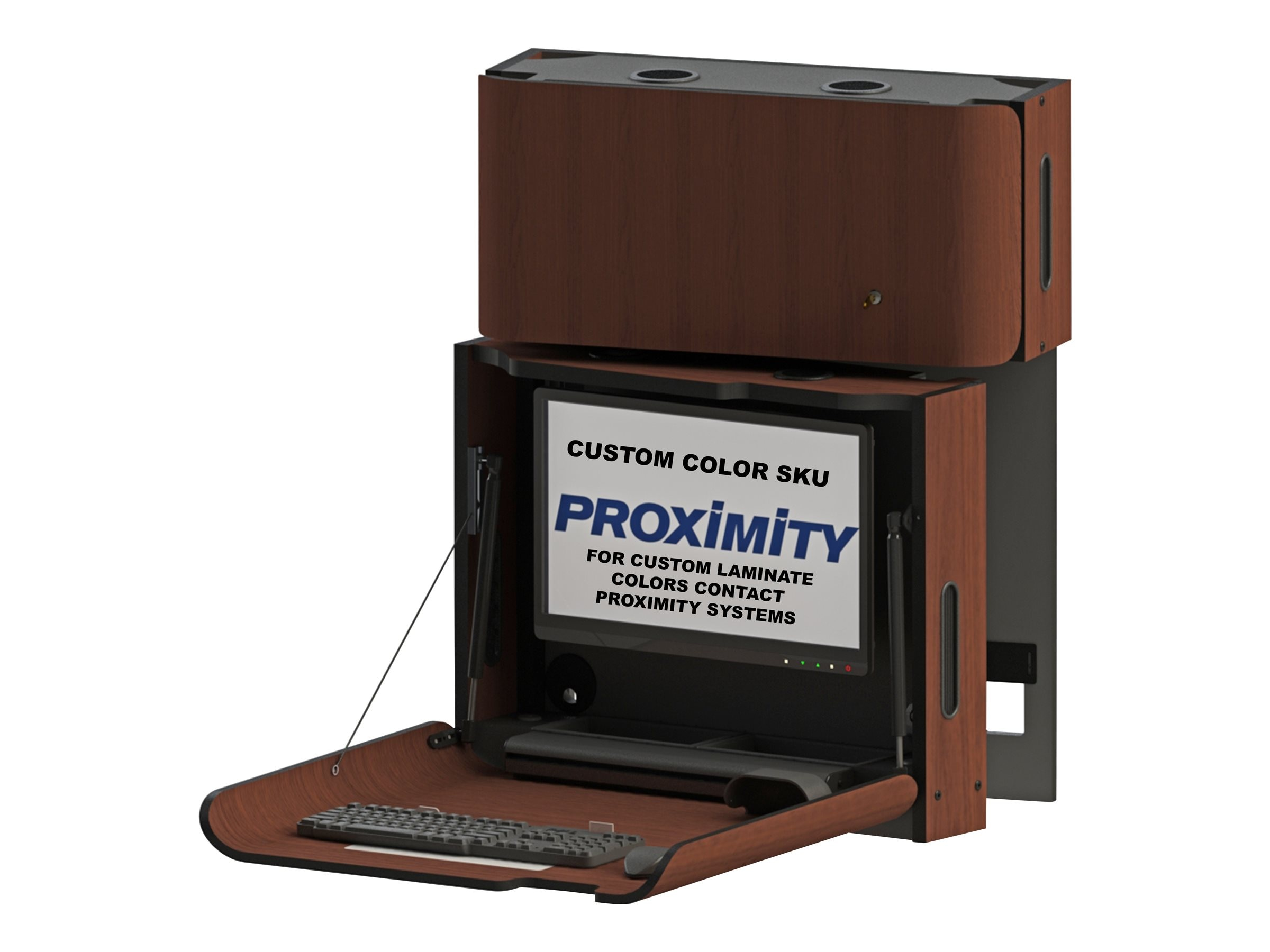Proximity Classic Self-Disinfecting Wall Station with Monitor Tilt, Left Swivel, Custom Color