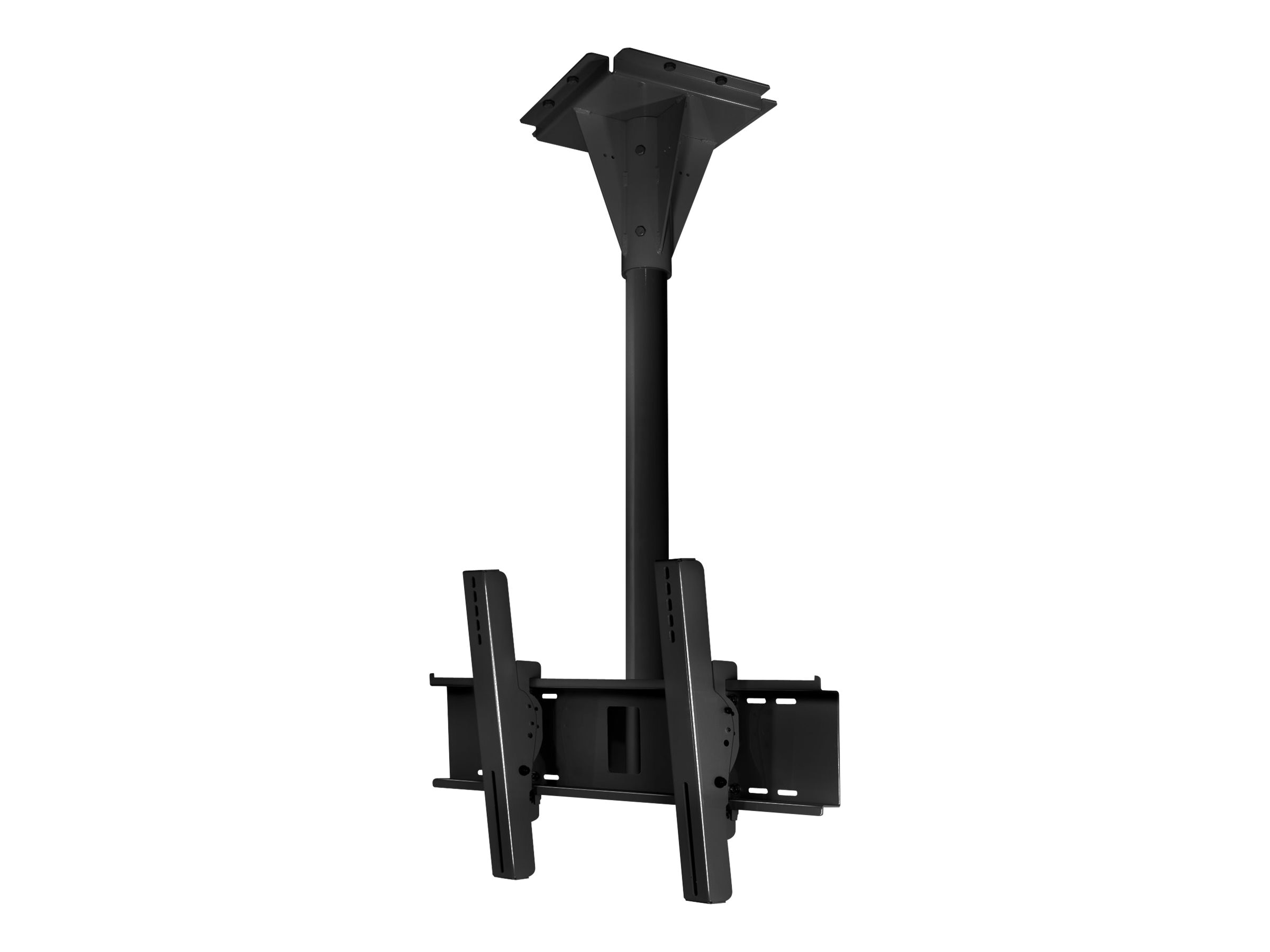 Peerless Wind Rated Concrete Ceiling Tilt Mount for 32-65 Outdoor Displays, Black