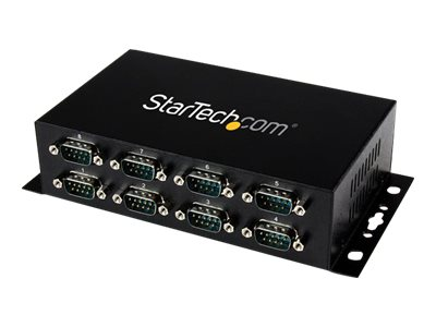 StarTech.com 8-Port USB to DB9 RS232 Serial Adapter Hub