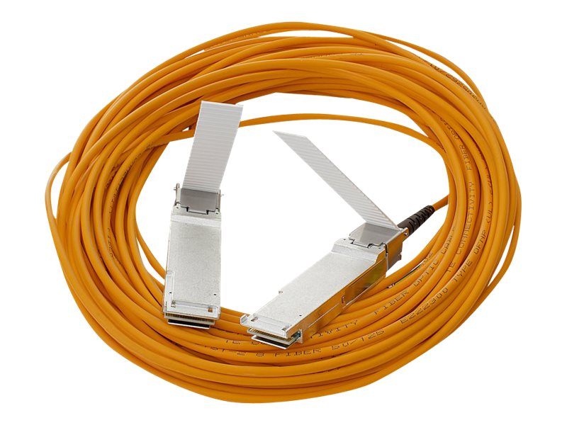 HPE 40G QSFP+ QSFP+ Active Optical Cable, 15m, 720211-B21, 17468697, Cables