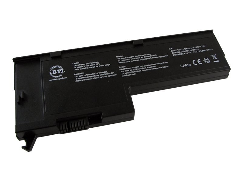BTI Battery, Lithium-ion, 14.8 Volts, 2400mAh, for ThinkPad X60 Series, Not Tablet, IB-X60, 8603092, Batteries - Notebook