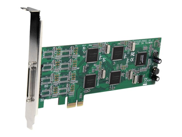 StarTech.com 8-Port Low-Profile PCI Express RS232 Serial Adapter Card with 161050 UART, PEX8S1052, 15772089, Controller Cards & I/O Boards