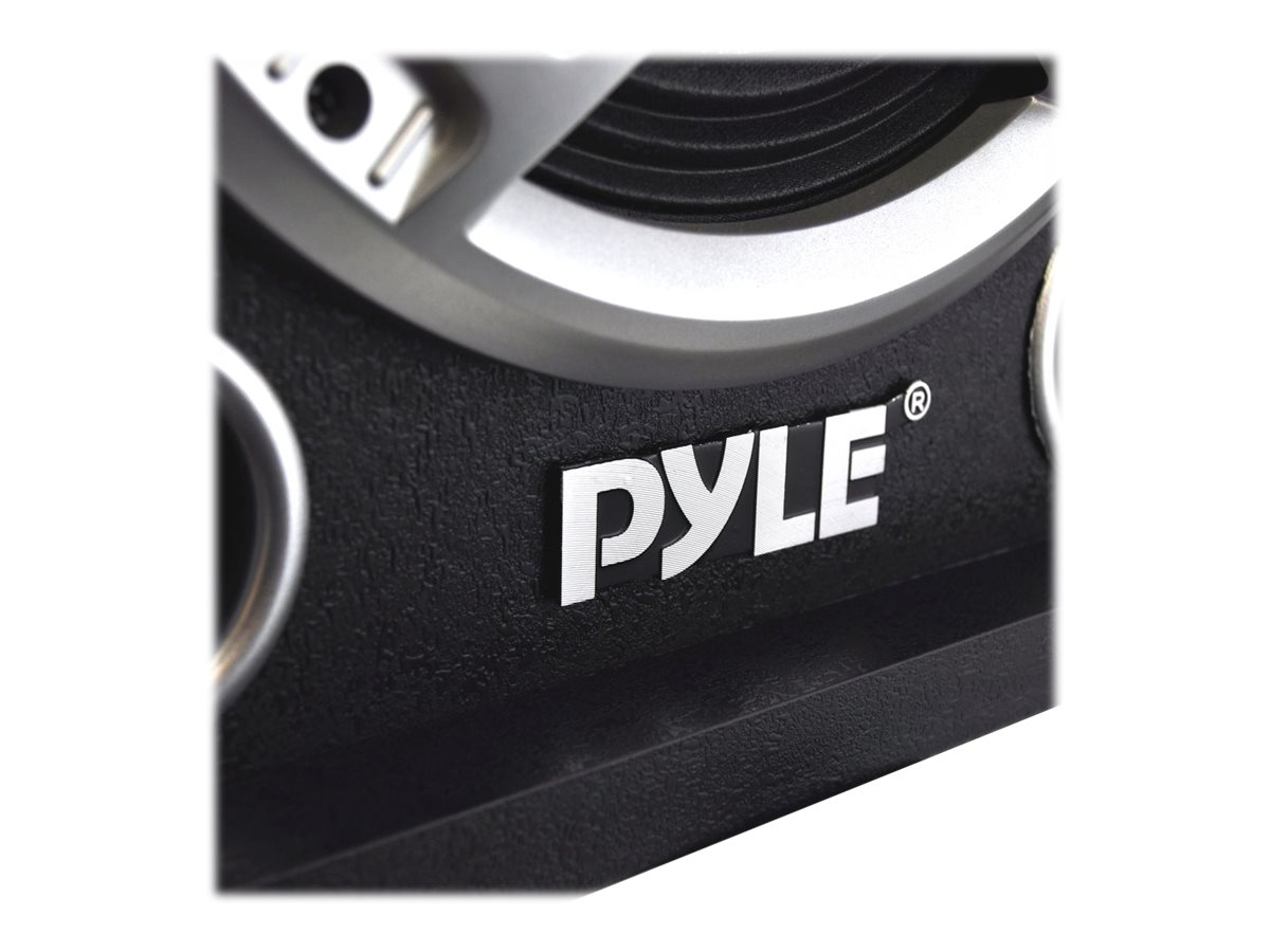 Pyle 800W Dual Disco Jam Powered Two-Way PA BT Speaker System, PSUFM837BT