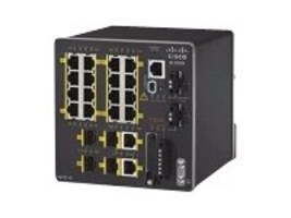 Cisco 20-Port Industrial Ethernet 2000 Series Switch 2FE SFP+2T SFP Base w 1588  Lite, IE-2000-16TC-G-L, 15557346, Network Switches