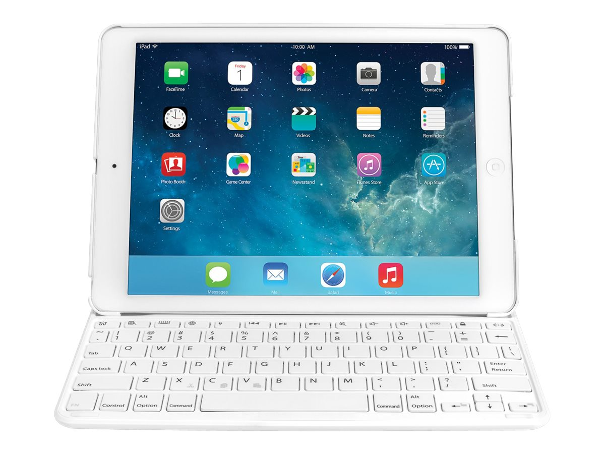 Kensington Keyfolio Thin x2 iPad Air for Business Integrated Bluetooth, White, K97259US, 25487492, Keyboards & Keypads