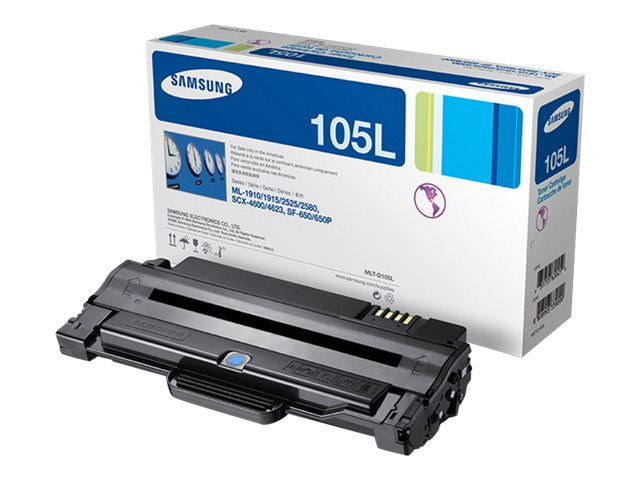 Samsung Black High Yield Toner Cartridge for ML-2525, ML-2525W, SCX-4600, SCX-4623F, SF-650 & SF-650P, MLT-D105L