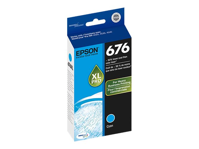 Epson Cyan 676XL Ink Cartridge, T676XL220, 13202091, Ink Cartridges & Ink Refill Kits