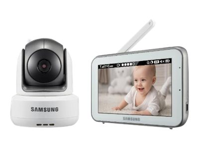 Samsung BrightVIEW IR Night Vision PTZ Baby Video Monitoring System with 5 Touchscreen Display, SEW-3043W