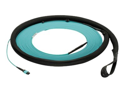 Panduit MPO-MPO F F 50 125 OM4 Multimode Plenum Fiber Optic Cable, Aqua, 50m