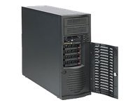 Supermicro SuperChassis Mid-Tower, 4 HS SAS SATA Bays, 7 Slots, 665W PSU, Black, CSE-733TQ-665B, 10013315, Cases - Systems/Servers