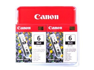 Canon Black BCI-6BK Ink Cartridges (2-pack), 4705A037