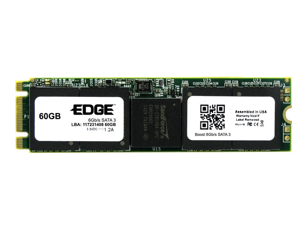 Edge 60GB Boost SATA 6Gb s M.2 2280 Double Sided Solid State Drive, PE247836, 30616578, Solid State Drives - Internal