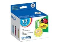 Epson Multi-Pack High Capacity Color Ink Cartridges for SP RX580 RX595 RX680 R260 R280 R380 Printers, T077920, 8081925, Ink Cartridges & Ink Refill Kits