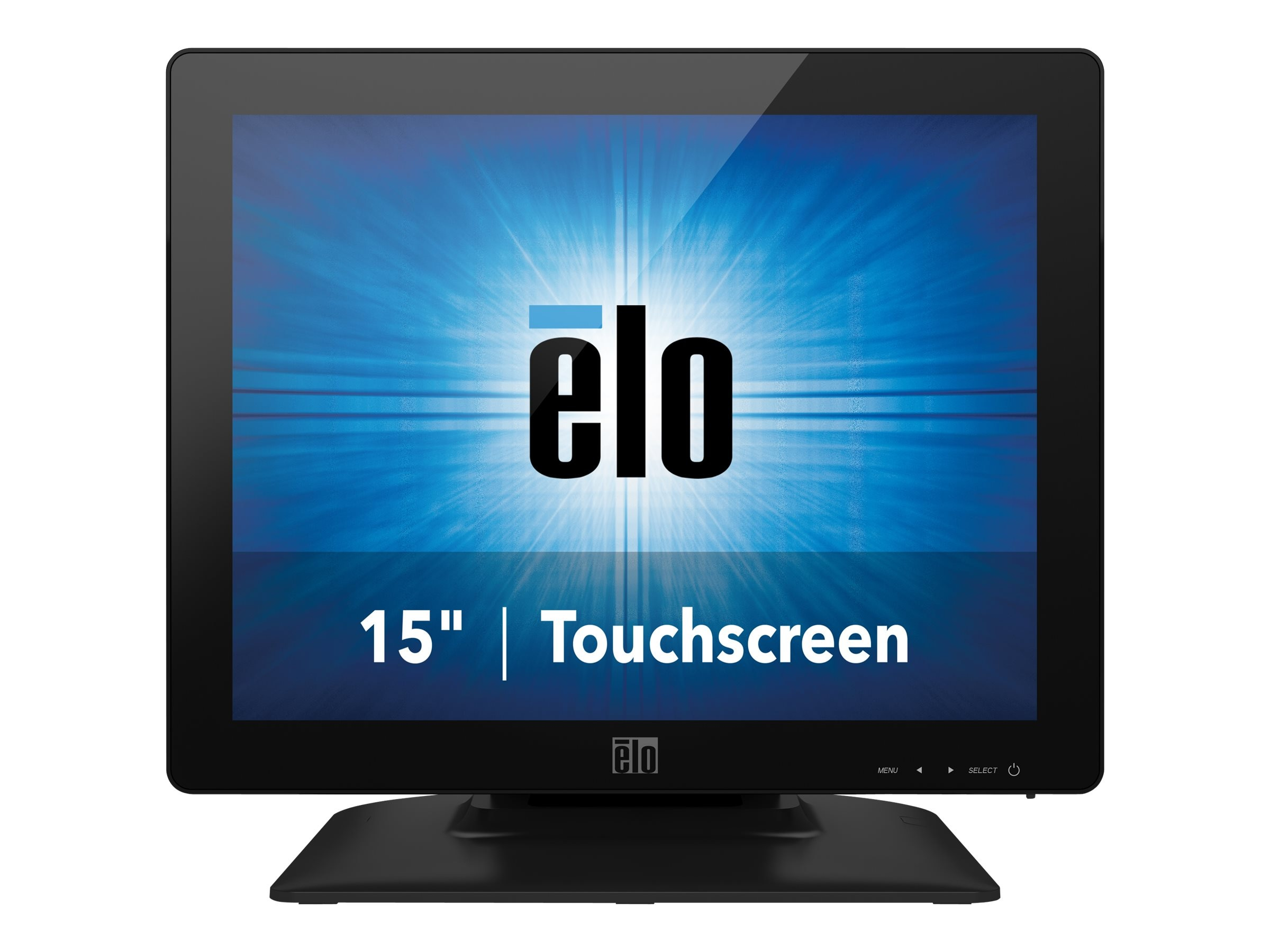 ELO Touch Solutions 15 1523L LED-LCD IntelliTouch Pro PCAP Monitor, Black