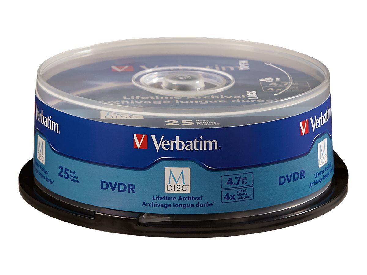 Verbatim DVD R 4.7GB 4X Brded Surf Spdl, 98908, 25875348, DVD Media