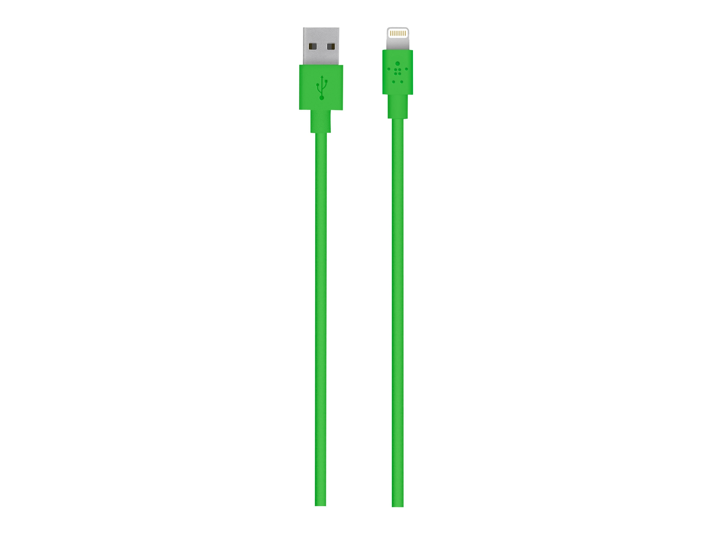 Belkin MIXIT Lightning to USB ChargeSync Cable, Green, 4ft, F8J023BT04-GRN, 16172211, Cables