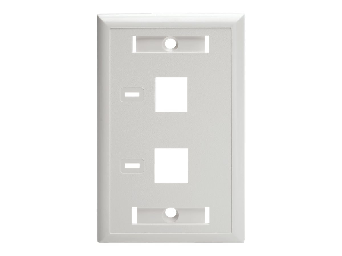 Tripp Lite 2-Port Dual Outlet RJ45 Universal Keystone Jack Face Plate, TAA