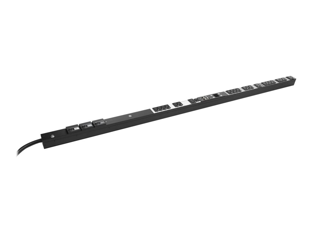 HPE Managed PDU 8.6kVA 208V L21-30P 3-phase Input (20) C13 (3) C19 (1) NEMA 5-20R Outlets NA JP, H8B53A, 18742627, Power Distribution Units