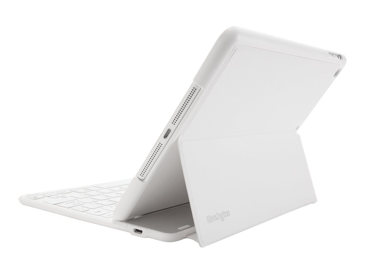 Kensington Keyfolio Thin x2 iPad Air for Business Integrated Bluetooth, White, K97259US