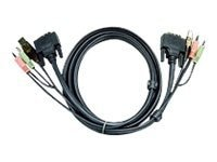 Aten DVI-I Dual-Link KVM Cable, Black, 10ft