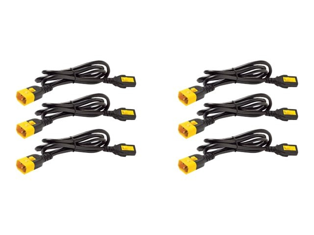 APC Power Cord Kit, Locking, C13 to C14, 4ft 1.2m, North America (qty 6), AP8704S-NA